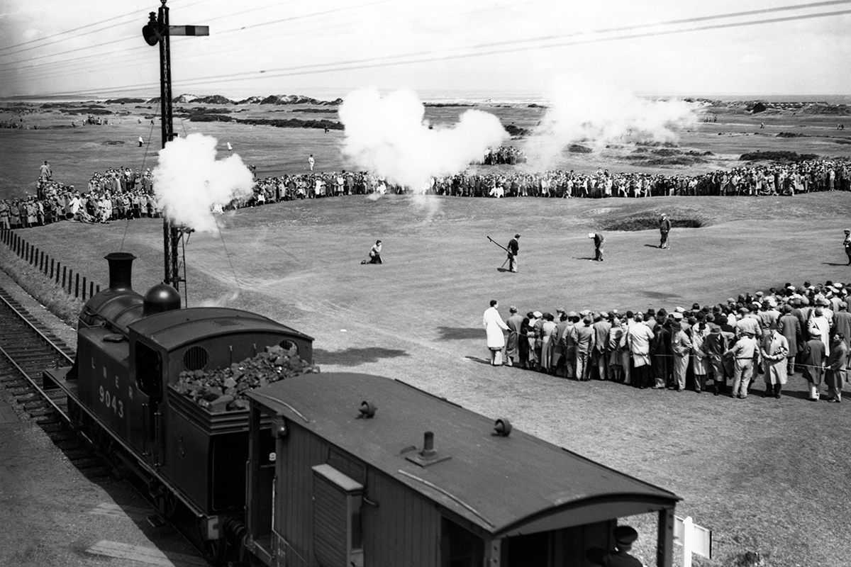 Then and Now... when golf stopped the trains