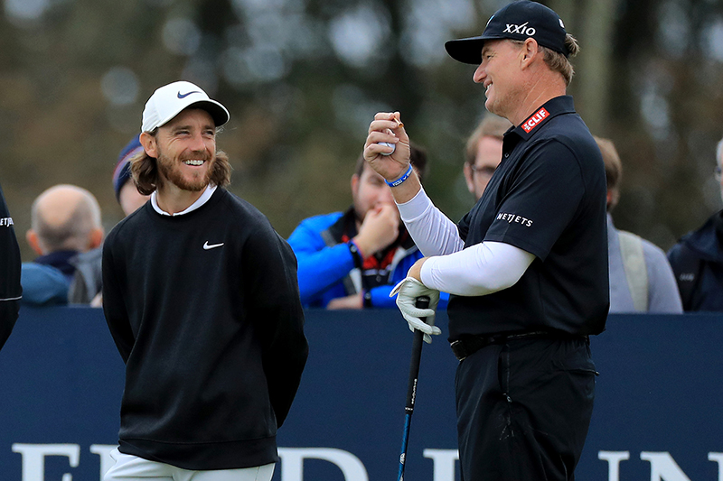 Tommy Fleetwood and Ernie Els